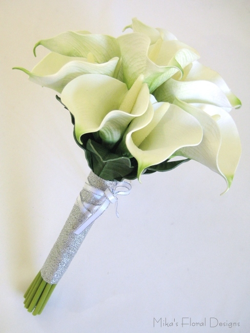 Wedding Bouquets With Arum Lilies : Real touch calla lily wedding bouquets quality