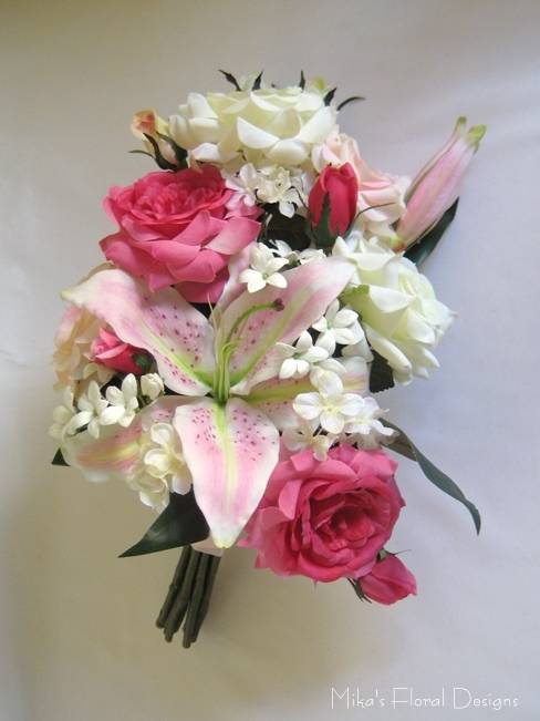 Church flower arrangements quality artificial flowers oriental lily rose hydrangea and stephapnotis arrangement for church mightylinksfo