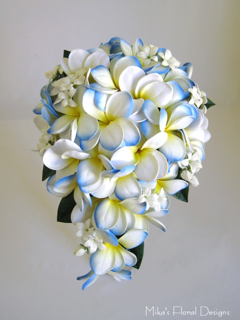 Real touch frangipani wedding bouquets quality artificial flowers artificial wedding flowers real touch frangipani open bloom and bud round bouquet real touch frangipani and stephanotis teardrop bouquet mightylinksfo Images