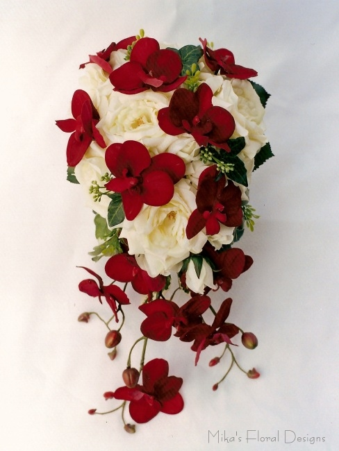Silk Wedding Bouquets Orchids : Artificial wedding bouquets quality silk flowers