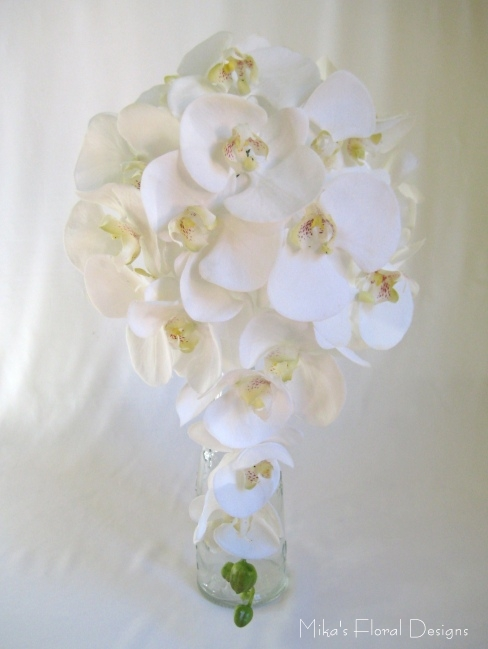 Artificial Orchid Wedding Bouquets