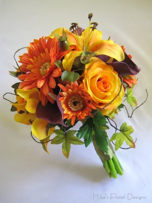 Wedding Flowers In Silk : Artificial wedding bouquets quality silk flowers