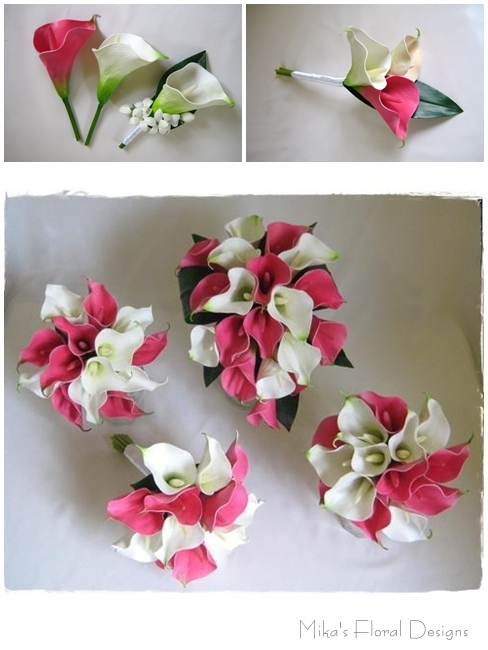Calla Lily Hair Pieces