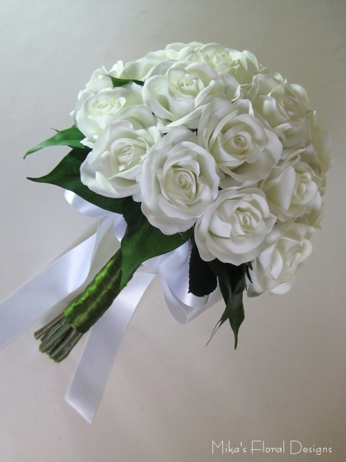 Silk Wedding Bridal Bouquets by WeddingBouquets.com
