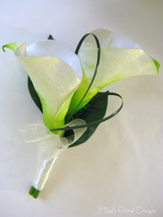 Real Touch Calla lily Corsage (double flowers)