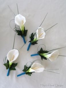 Single Foam Calla Lily Buttonholes