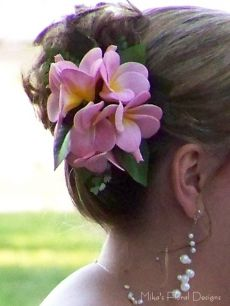 Artificial Frangipani Bridal Hairpiece