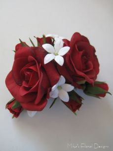 Real Touch Rose and Stephanotis Bridal Hairpiece