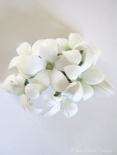 Real Touch Stephanotis Hairpiece (for Flower Girl)