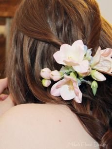 Real Touch Freesia and Silk Hydrangea Hairpiece