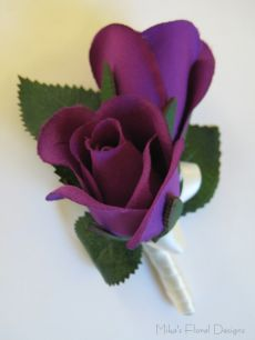 Silk Double Rose Buds Buttonhole