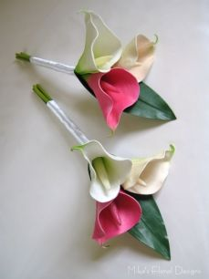Real Touch Calla Lily Cake Topper Set