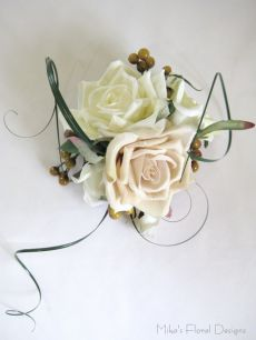 Cake Topper of Silk Rose and Berry