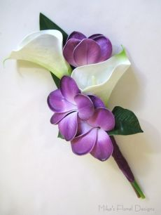 Real Touch Calla Lily and Frangipani Cake Topper