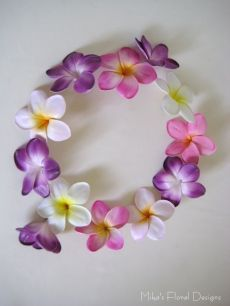 Real Touch Frangipani Loose Flowers for Wedding Cake