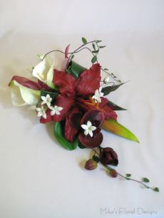 Cake Topper of Real Touch Lily, Calla Lily and Orchid