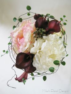 Artificial Calla Lily and Peony Bridal Bouquet