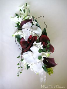 Real Touch Calla Lily and Orchid Arm Sheaf Bouquet