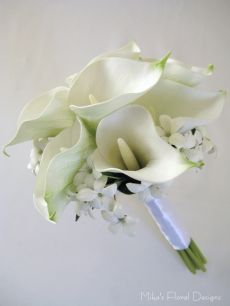 Real Touch Calla Lily and Stephanotis Round Bouquet