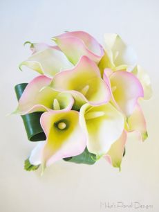 Real Touch Calla Lily Bridal Round Bouquet