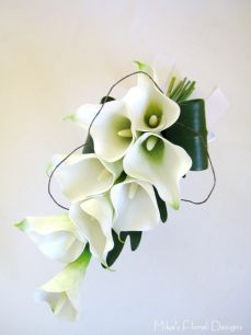 Real Touch Calla Lily Arm Sheaf Bouquet