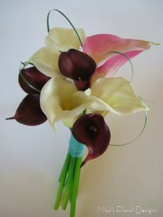 Silk/Artificial Calla Lily Hand-Tied Bouquet for Wedding