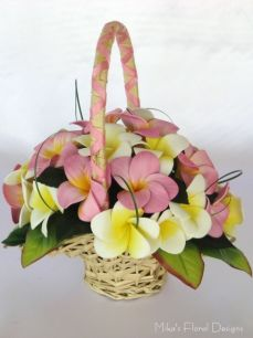 Foam Frangipani Basket Arrangement