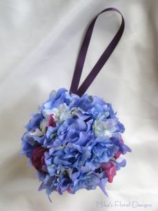 Silk Delphinium and Sweet Pea Pomander