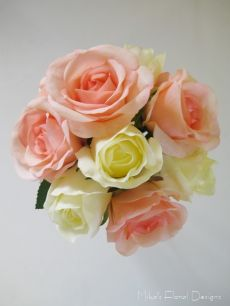 Real Touch Roses Flower Girl's Bouquet