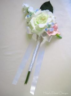 Single Silk Rose and Small Flowers Bouquet