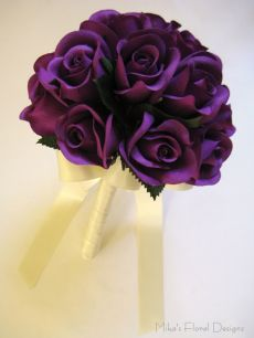 Silk Rose Bud Round Bouquet for Flower Girl