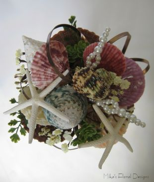 Seashell and Starfish Bouquet for Beach Wedding