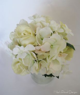 Artificial Hydrangea, Rose and Orchid Bridal Bouquet