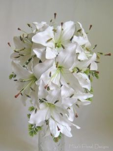 Real Touch Oriental Lily Teardrop Bouquet