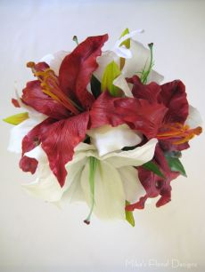 Mixed Lilies Round Bouquet (Floramatique Range and Latex)