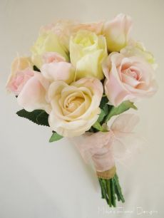 Real Touch Mixed Roses Bridesmaid's Bouquet