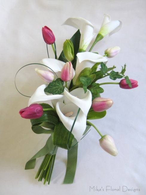 Artificial Tulip Wedding Bouquets : Artificial wedding bouquets quality silk flowers